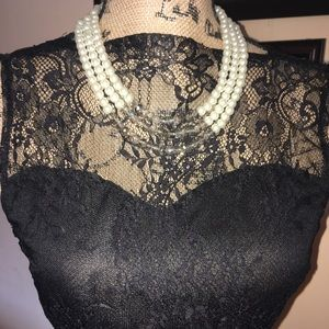 Dresses & Skirts - Black lace overlay cocktail dress